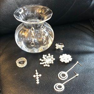 🛍Rhinestone jewelry lot